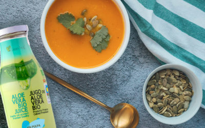 Receta de crema de verduras invernal con Aloe Vera para plantar cara al frío de Filomena