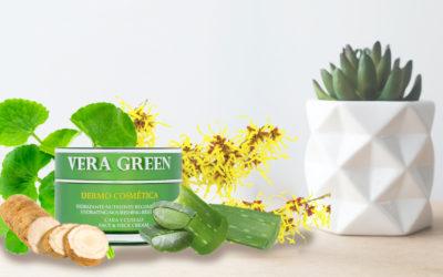 Los cuatro principales ingredientes de la crema dermo cosmética para mujer Vera Green