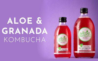La primera Kombucha ecológica del mercado con Aloe y Granada
